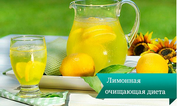 lemon dieta Напитки для похудания